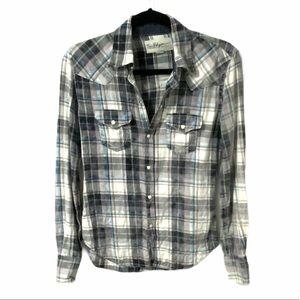 True Religion Men's Button Down Plaid Shirt XS